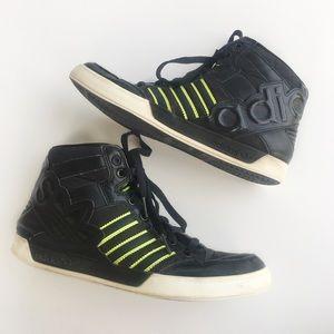 Adidas Vintage Black/Neon Green High Top Sneaker 7